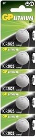 Bild på Batteri Lithium CR2025, 5 st