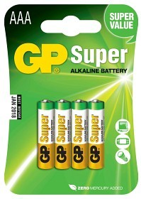 Bild på Batteri Super AAA LR03 1,5V 4 st