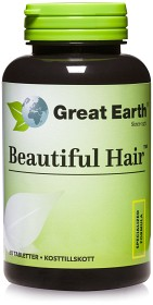 Bild på Great Earth Beautiful Hair 60 tabletter
