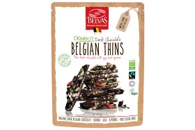 Bild på Belvas Belgian Thins Mörk Choklad 120 g