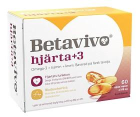 Bild på Betavivo Hjärta+3 60 kapslar