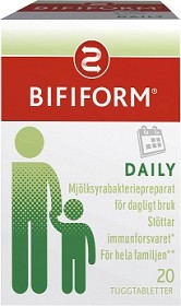Bild på Bifiform Daily 20 tabletter
