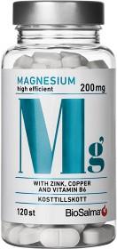 Bild på BioSalma Magnesium 200mg + Zink, Koppar, B6 120 kapslar
