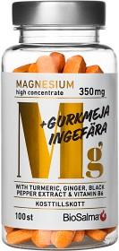 Bild på BioSalma Magnesium 350 mg + Gurkmeja Ingefära 100 tabletter