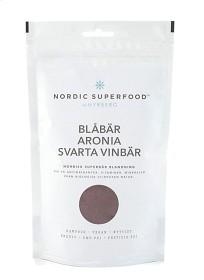 Bild på Nordic Superfood Blue - blåbär, aronia & svarta vinbär175 g
