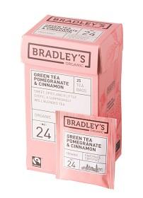 Bild på Bradley's Te Green Tea Pomegranate Cinnamon 25 p