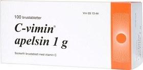 Bild på C-vimin apelsin, brustablett 1 g 100 st