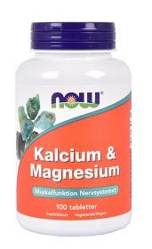 Bild på NOW Kalcium & Magnesium 100 tabletter