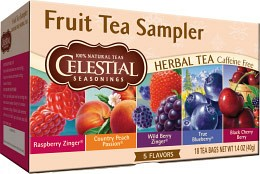 Bild på Celestial Fruit Tea Sampler 18 tepåsar