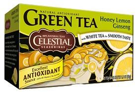 Bild på Celestial Green Tea Honey Lemon Ginseng 20 tepåsar