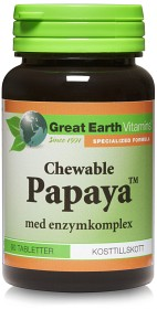 Bild på Great Earth Chewable Papaya 90 tabletter
