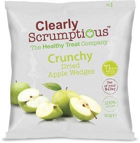 Bild på Clearly Scrumptious Crunchy Dried Apple Wedges 20 g
