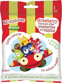Bild på Clearly Scrumptious Mumsisar Strawberry Babblarna 20 g