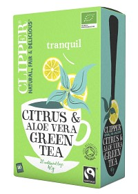Bild på Clipper Green Tea with Citrus & Aloe Vera 20 st