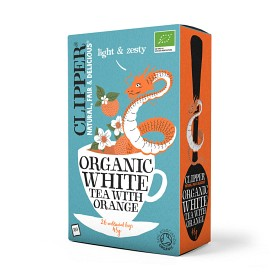 Bild på Clipper Organic White Tea Orange 26 tepåsar