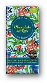 Bild på Dark Chocolate with Caramel & Sea Salt 100 g