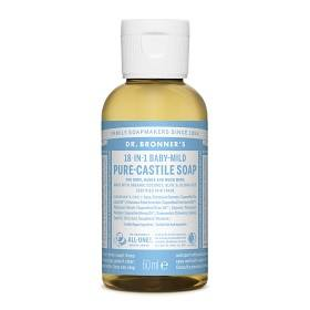 Bild på Dr Bronner Mild Unscented Liquid Soap 60 ml
