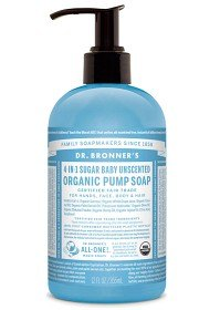 Bild på Dr Bronner Unscented Organic Sugar Soap 355 ml