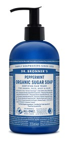 Bild på Dr Bronner Peppermint Organic Sugar Soap 355 ml