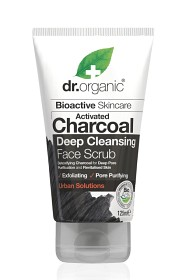 Bild på Dr Organic Activated Charcoal Face Scrub 125 ml