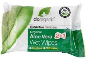 Bild på Dr Organic Aloe Vera Wet Wipes 20 st