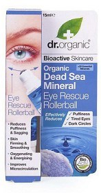 Bild på Dr Organic Dead Sea Mineral Eye Rescue Rollerball 15 ml