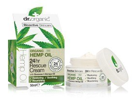 Bild på Dr Organic Hemp Oil 24hr Rescue Cream 50 ml