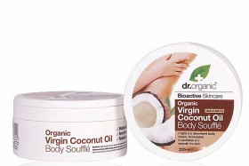 Bild på Dr Organic Virgin Coconut Oil Body Soufflé 200 ml