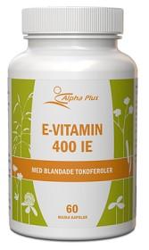 Bild på Alpha Plus E-vitamin 400 IE 60 kapslar