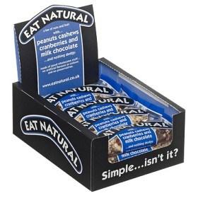 Bild på Eat Natural Milk Chocolate Peanuts & Cashews Cranberries 12 st