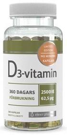 Bild på Elexir D3-vitamin 2500 IE 360 kapslar