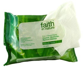 Bild på Faith In Nature 3-in-1 Facial Wipes 25 st