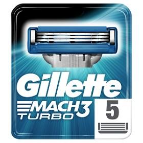 Bild på Gillette Mach3 Turbo rakblad 5 st