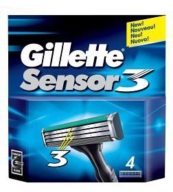 Bild på Gillette Sensor3 rakblad 4 st