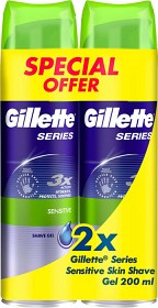 Bild på Gillette Series Gel Twinpack 2 x 200 ml