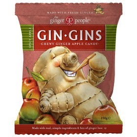 Bild på Gin Gins Spicy Apple Chewy Ginger Apple Candy 150 g