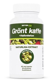 Bild på Grönt kaffe + Hallonketon 60 kapslar