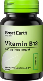 Bild på Great Earth Vitamin B12 Sublingual 500 mcg 60 tabletter