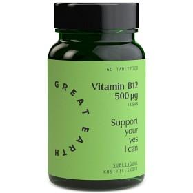 Bild på Great Earth Vitamin B12 Sublingual 500 mcg 60 tabletter