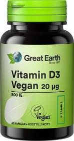 Bild på Great Earth Vitamin D3 Vegan 20 ug 60 kapslar