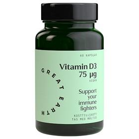 Bild på Great Earth D-Vitamin Vegan 75 µg 60 kapslar