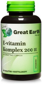 Bild på Great Earth E-Vitamin Komplex 200 IE 90 tabletter