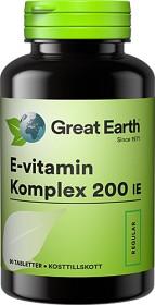 Bild på Great Earth E-Vitamin Komplex 200 IE 90 tabletter
