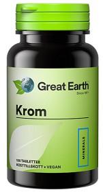 Bild på Great Earth Krom 100 tabletter