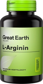 Bild på Great Earth L-Arginine 2000 mg 90 kapslar