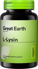 Bild på Great Earth L-Lysine 2000 mg 120 kapslar