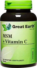 Bild på Great Earth MSM 1000mg och Vitamin C 120 tabletter