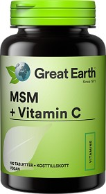 Bild på Great Earth MSM 1000mg och Vitamin C 120 tabletter