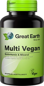Bild på Great Earth Multi Vegan 60 kapslar