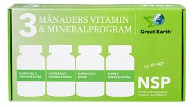 Bild på Great Earth NSP 3 Månaders Vitamin & Mineral högdoskur 4x90 tabletter